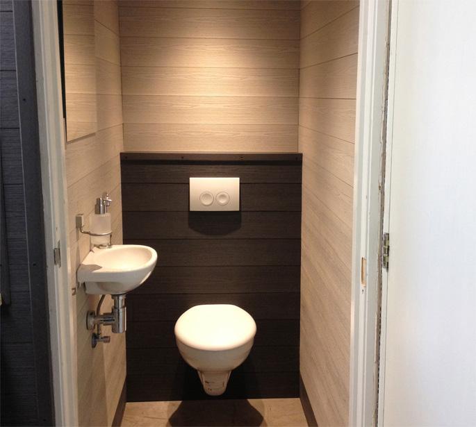 Toilet Met Wandbekleding White Wash amp Antraciet Bacodeck